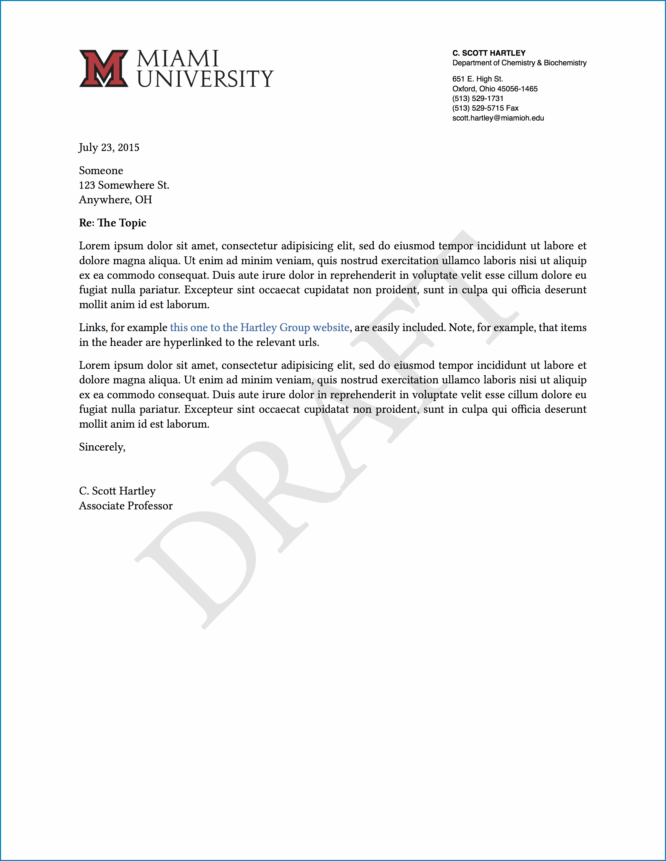 Letterhead For Letter Of Recommendation Sample