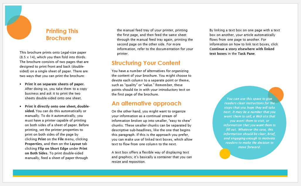 Free Printable Marketing Brochure Template