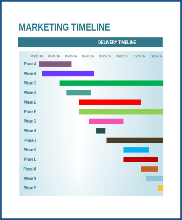 Marketing Timeline Template Example