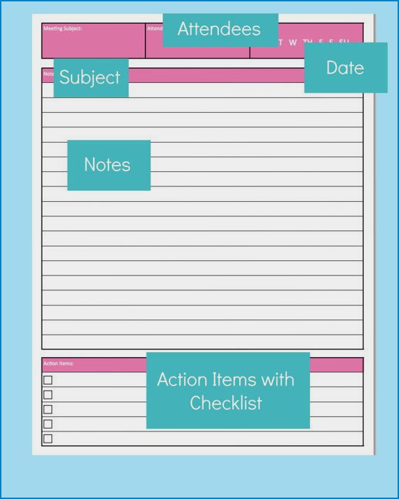 Meeting Notes Template Sample