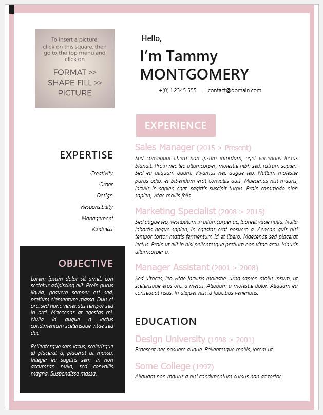 Free Printable Modern Resume Template