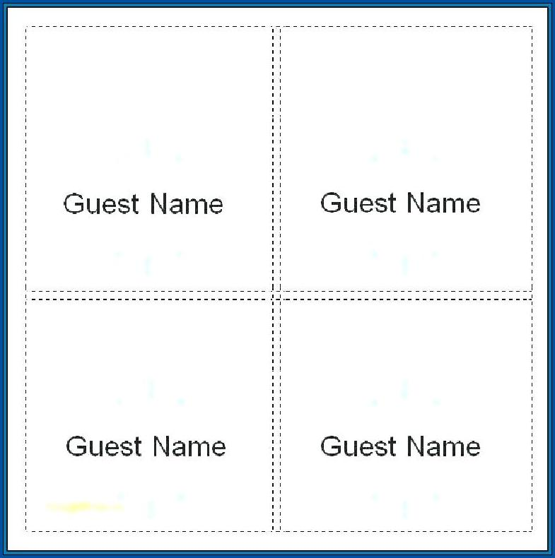 Name Tent Template Word Example