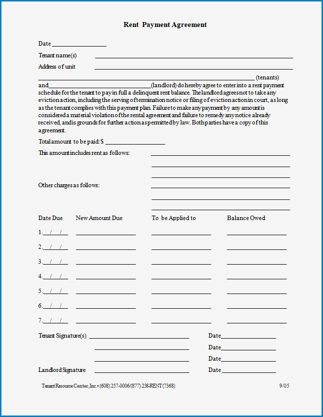 Free Printable Payment Agreement Template