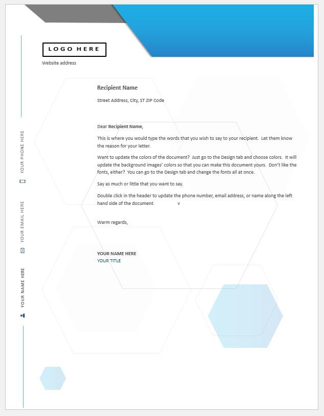 Free Printable Professional Letterhead Template