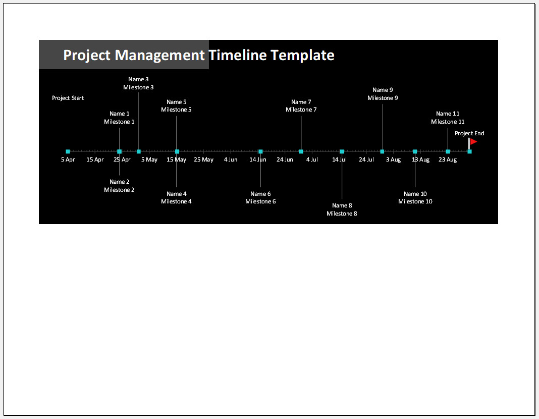 Free Printable Project Management Timeline Template