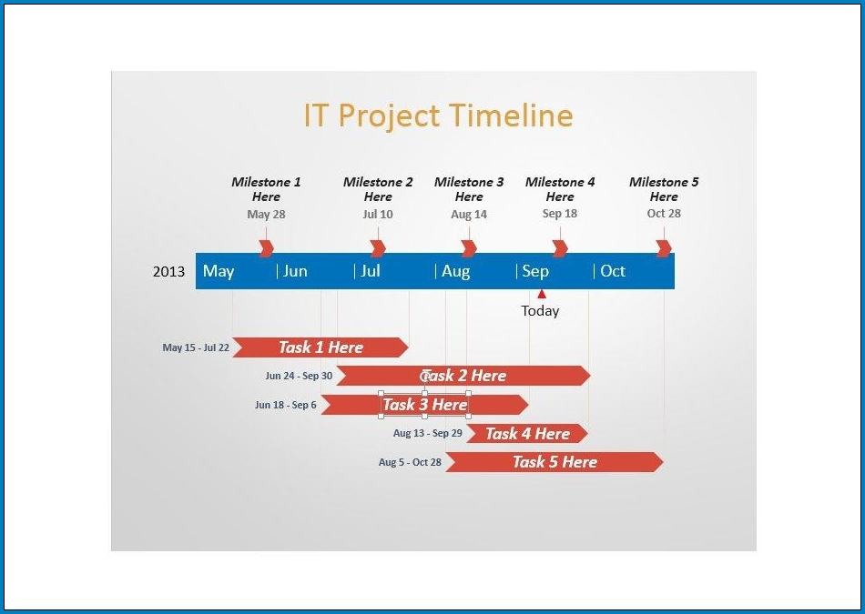 Project Timeline Template Word Example