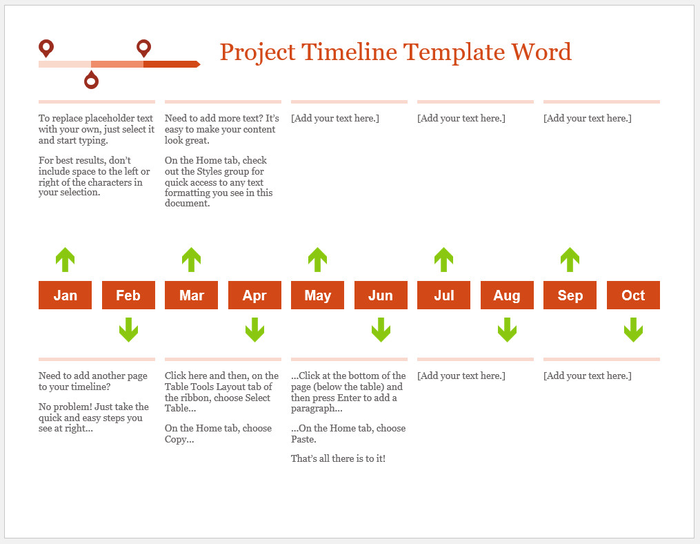Free Customizable Project Timeline Template Word