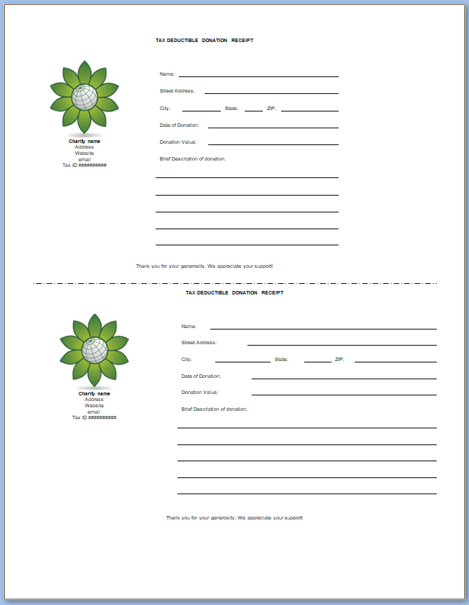 Free Printable Property Tax Receipt Template