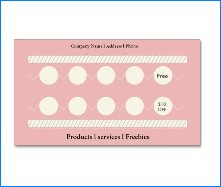 Punch Card Template Sample