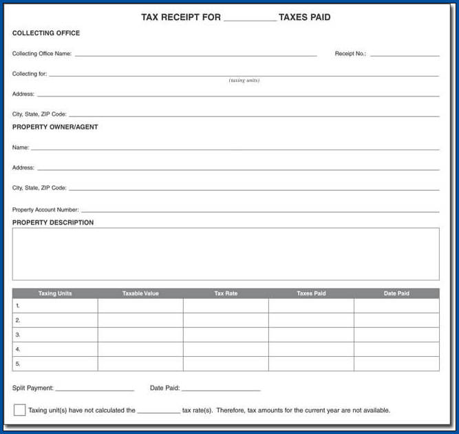 Receipt For Cash Payment Template Sample