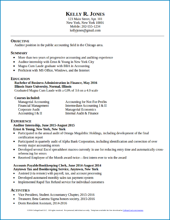 New Graduate Resume Template from www.templateral.com