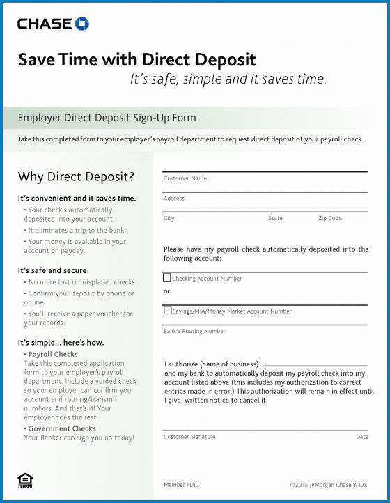 Sample of Bank Letter For Direct Deposit