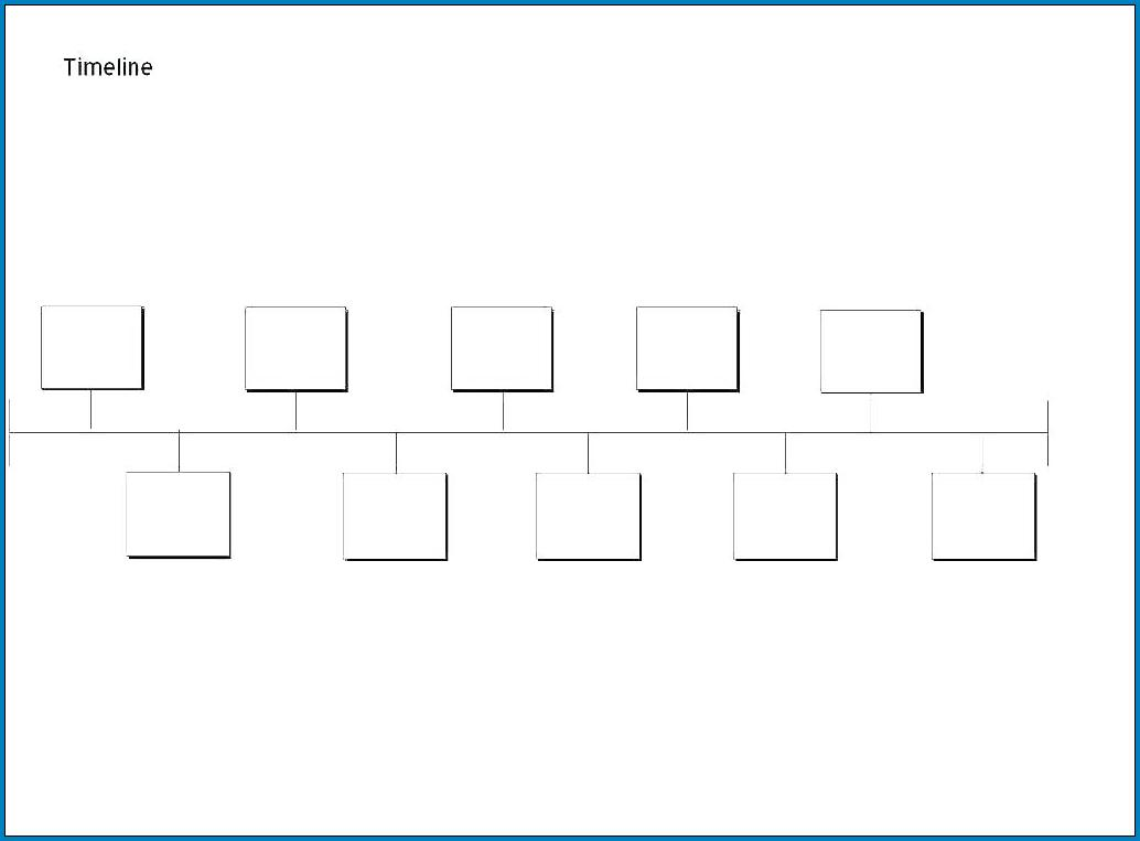 Sample of Blank Timeline Template