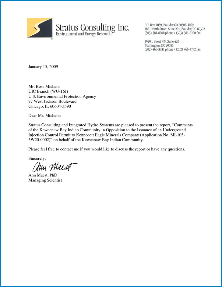 Sample of Business Letter Template Word