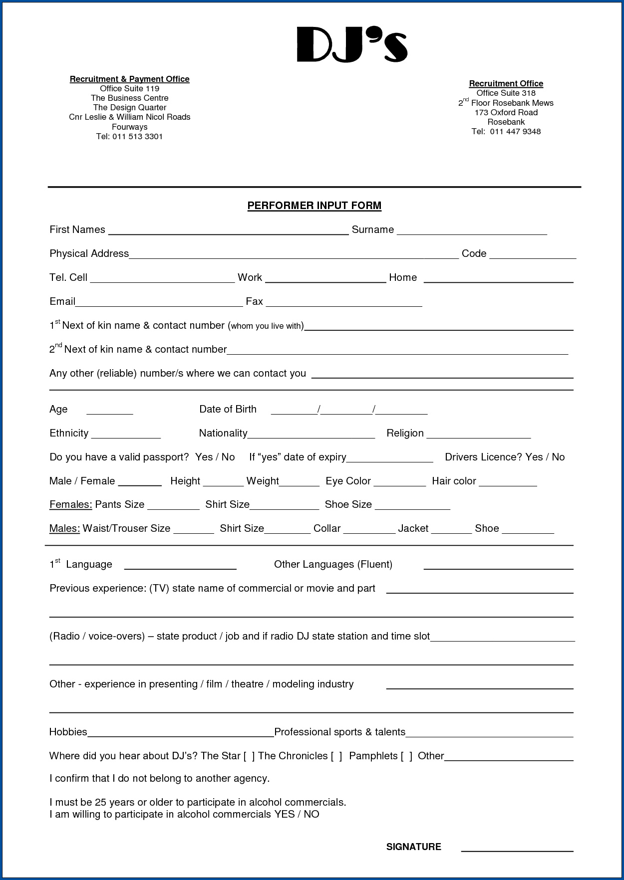 Sample of Dj Contract For Wedding
