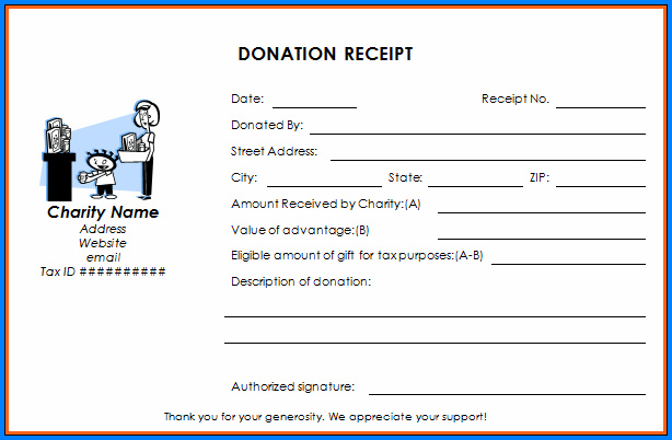 Sample of Donation Receipt Template