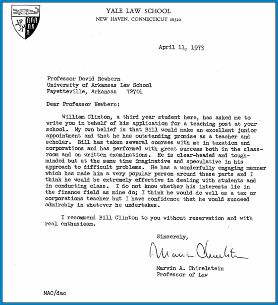 Sample of Letter Of Recommendation For Law School