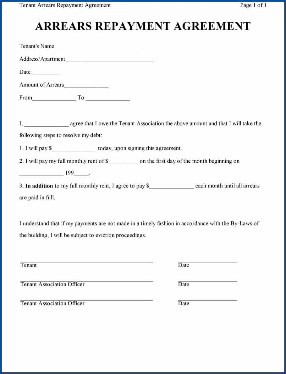 Sample of Loan Repayment Contract Template