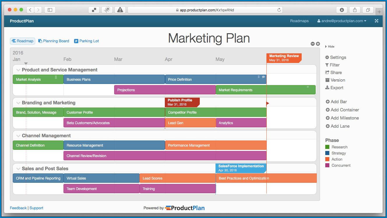 Sample of Marketing Plan Template