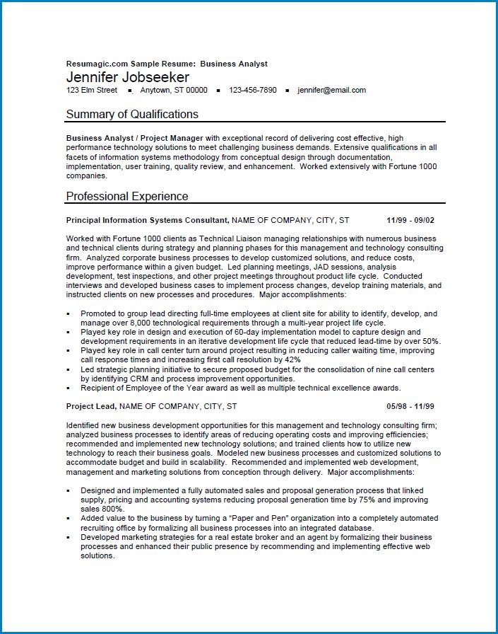 Sample of Modern Resume Template