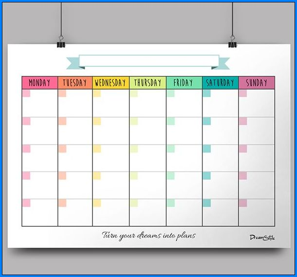 Sample of Monthly Schedule Template