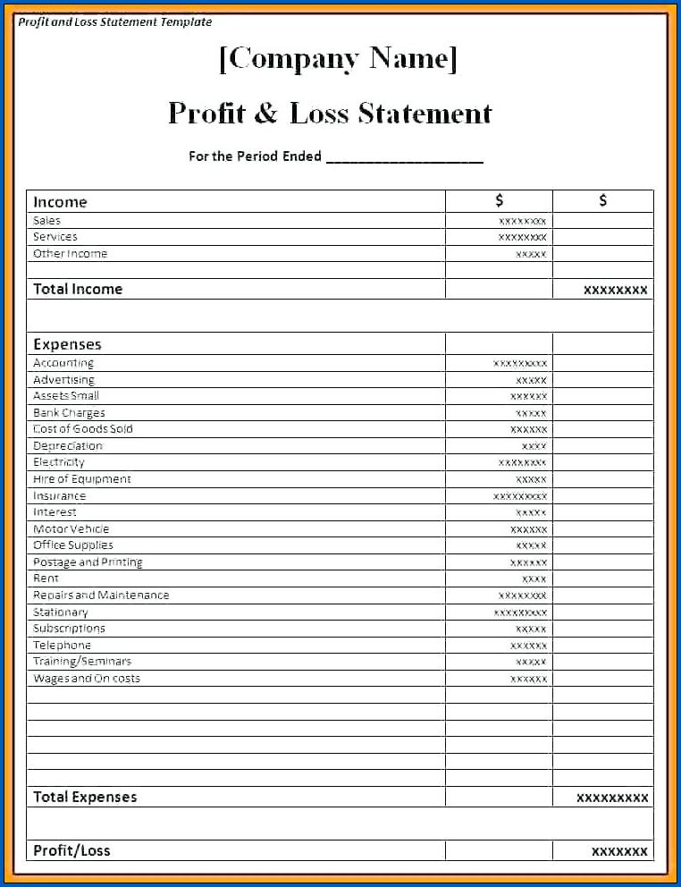 Sample of Profit And Loss Projection For Business Plan