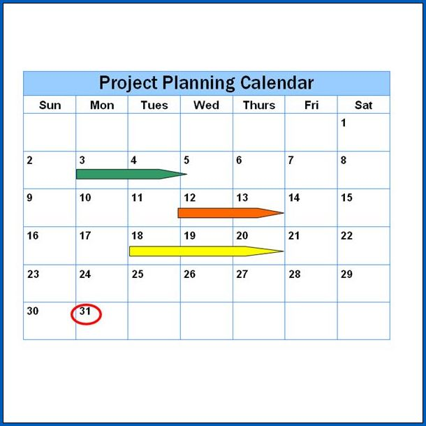 Sample of Project Timeline Template