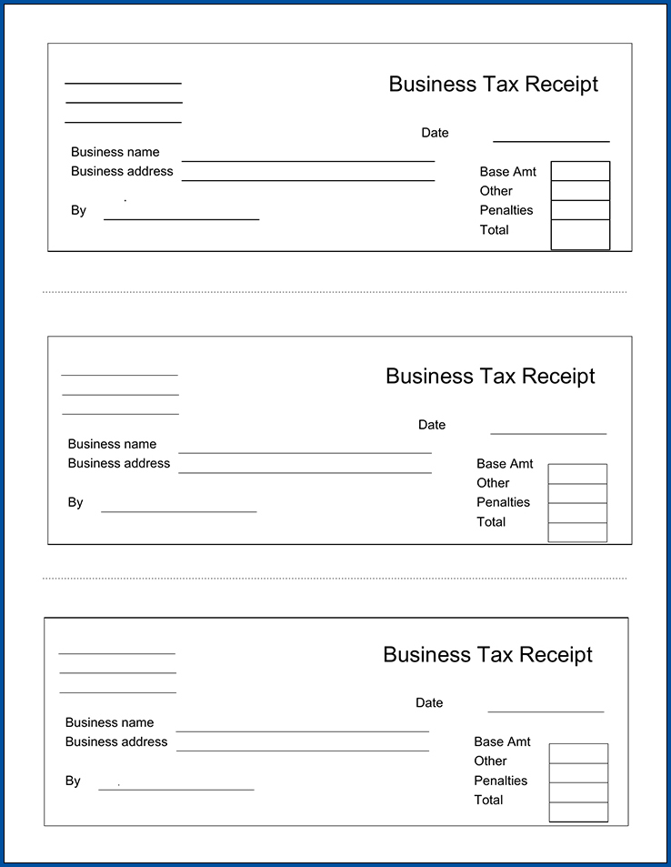 Sample of Receipt For Cash Payment Template