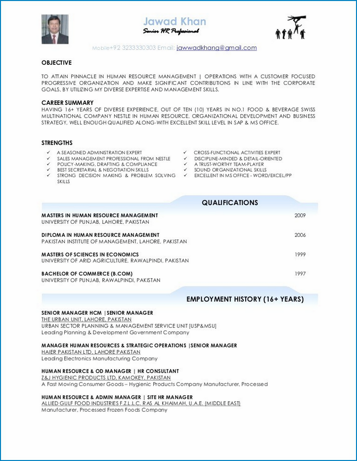 Sample of Resume Template For No Work Experience