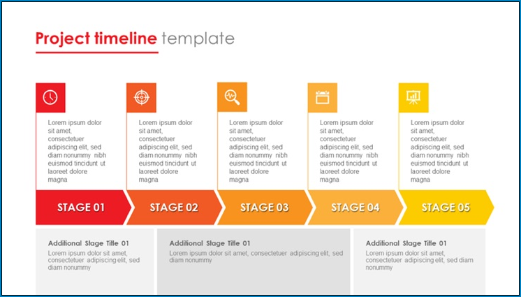 Sample of Simple Project Timeline Template