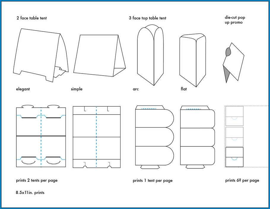Sample of Table Tent Template