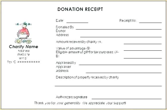 Sample of Tax Receipt For Donation
