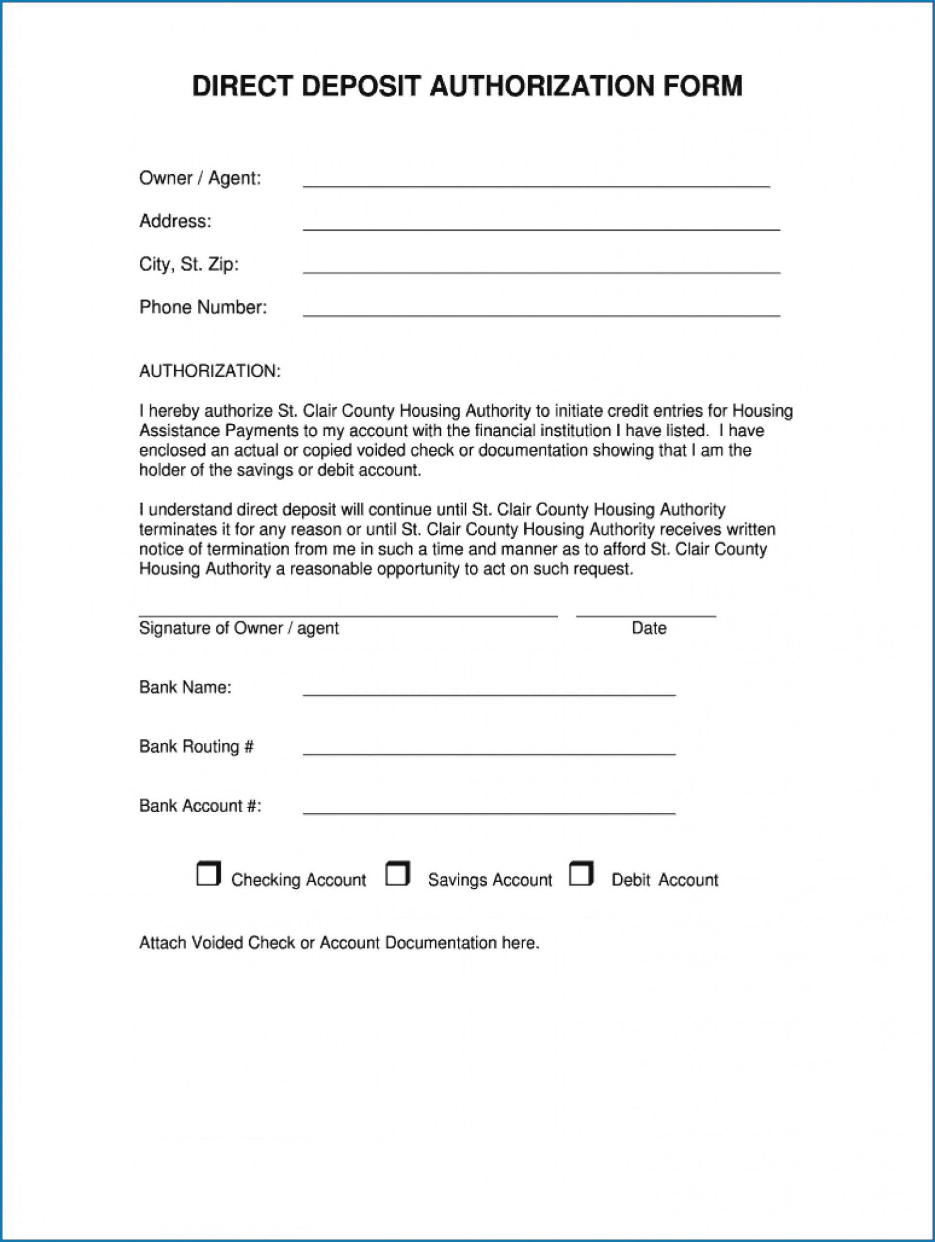 Sample of Wells Fargo Direct Deposit Form For Work