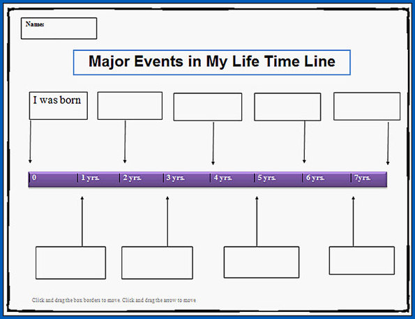 Sample of Year Timeline Template