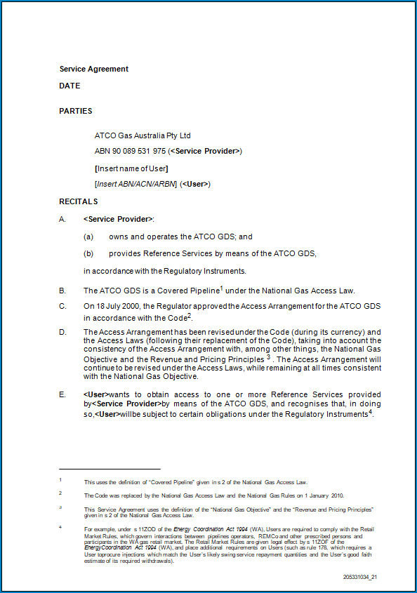 Free Printable Service Agreement Letter Template