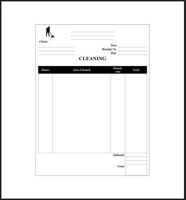 Service Receipt Template Example