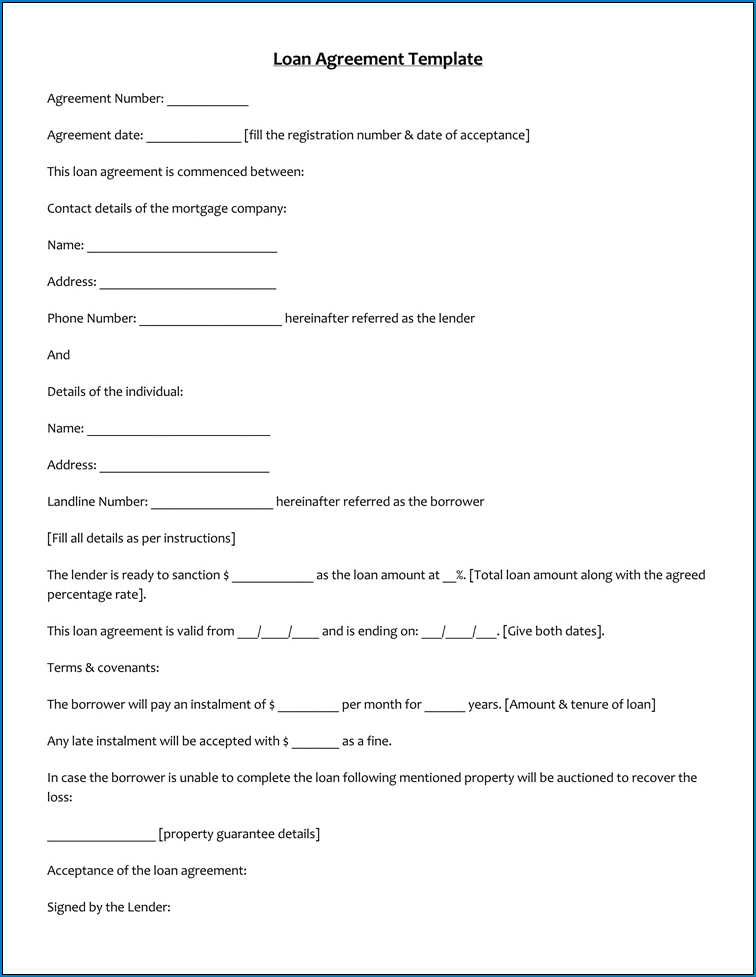 Simple Agreement Template Sample