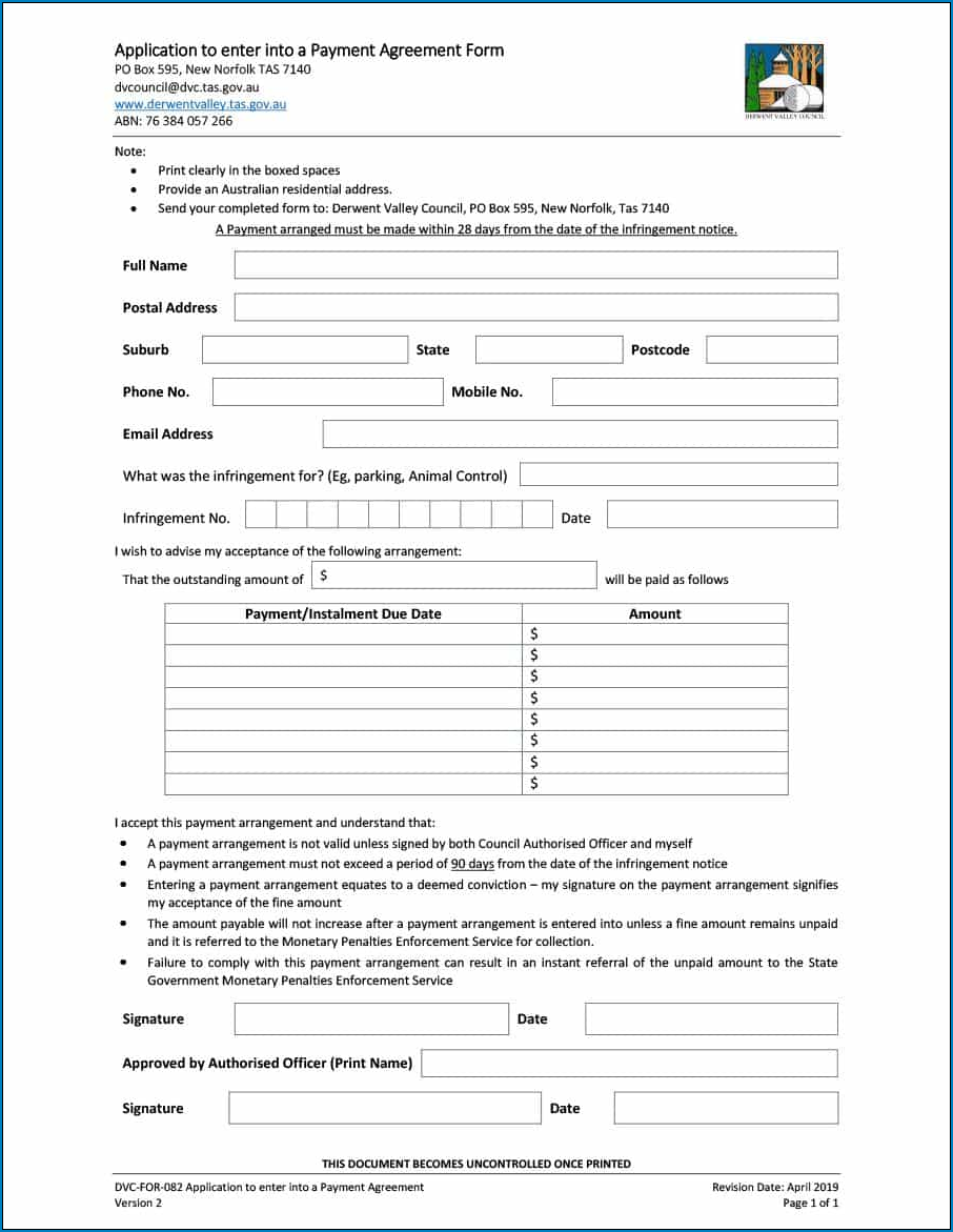 Simple Payment Agreement Template Between Two Parties Sample