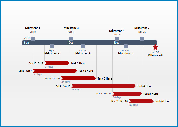 Simple Project Timeline Template Example