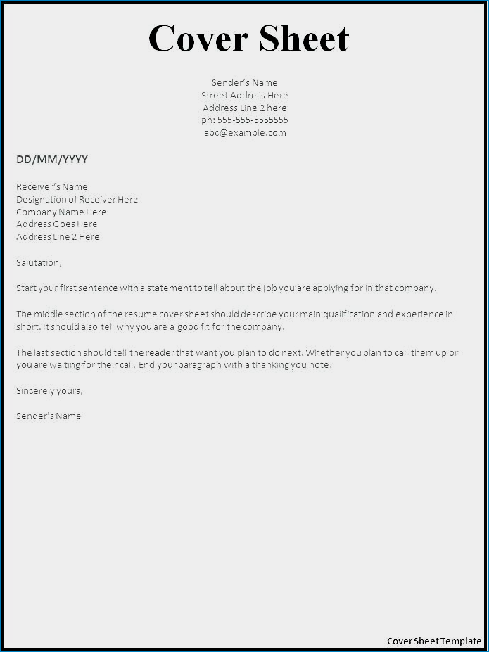 Free Simple Resume Cover Letter Template Templateral