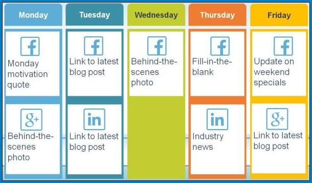 Social Media Post Schedule Template Example