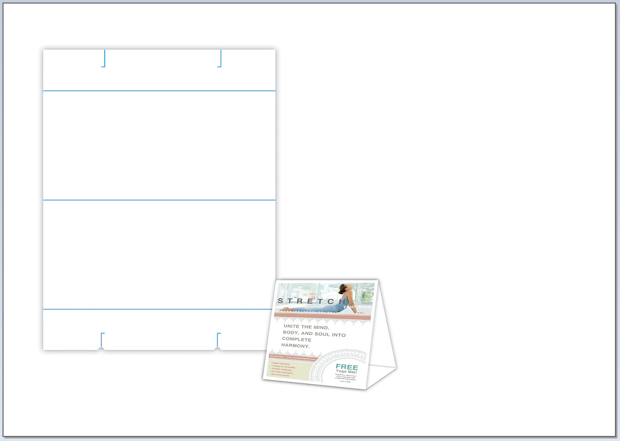 Table Tent Template Sample