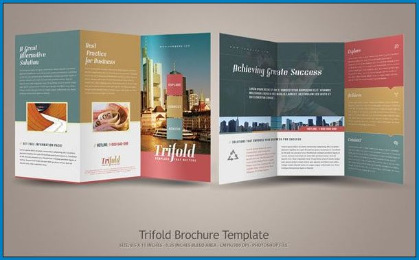 Tri Fold Pamphlet Template Sample