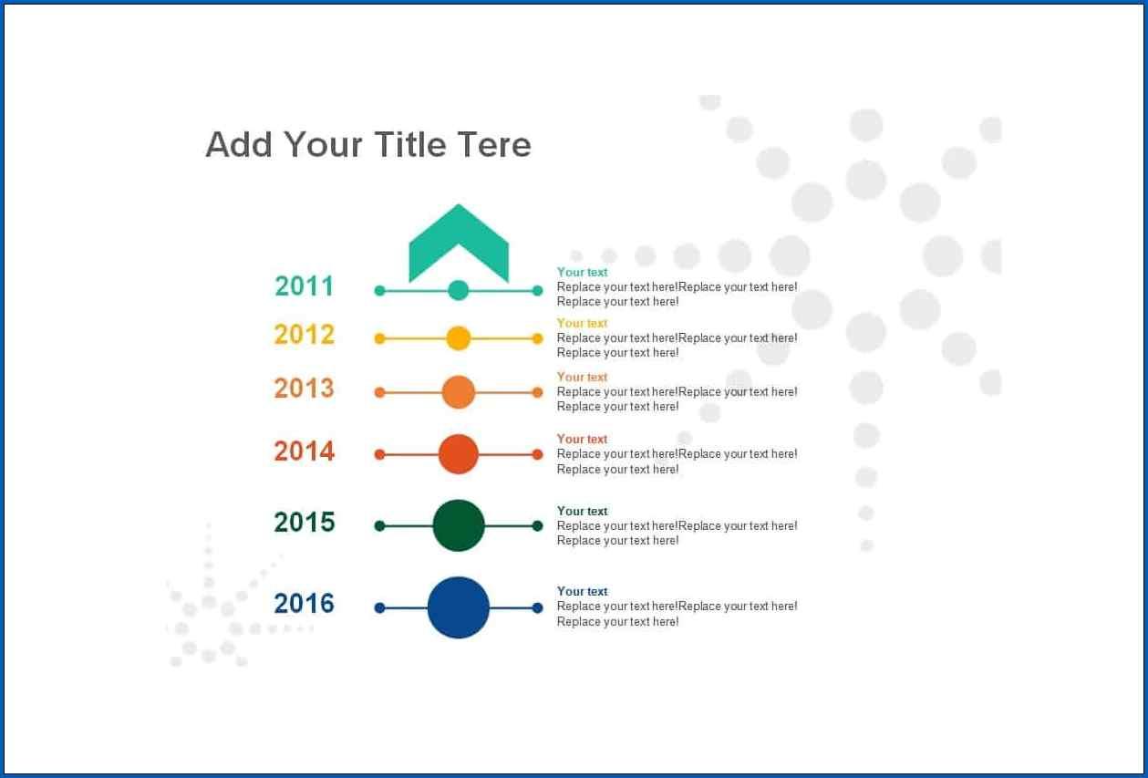 Vertical Timeline Template Sample