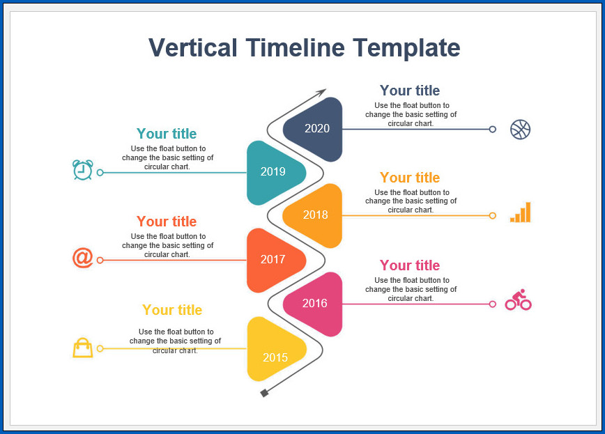 picture about Printable Timeline Template titled √ Absolutely free Printable Vertical Timeline Template Templateral