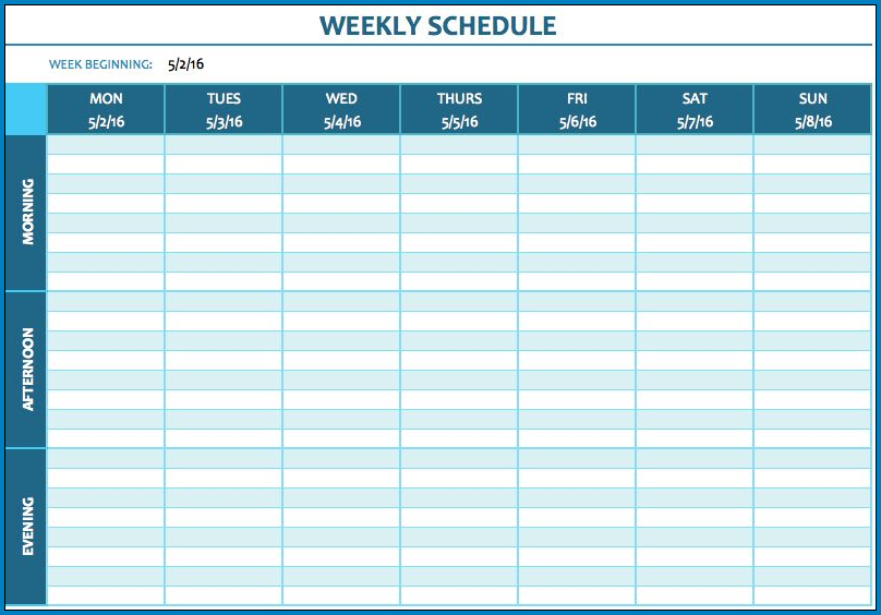 Weekly Lesson Planner Template Sample