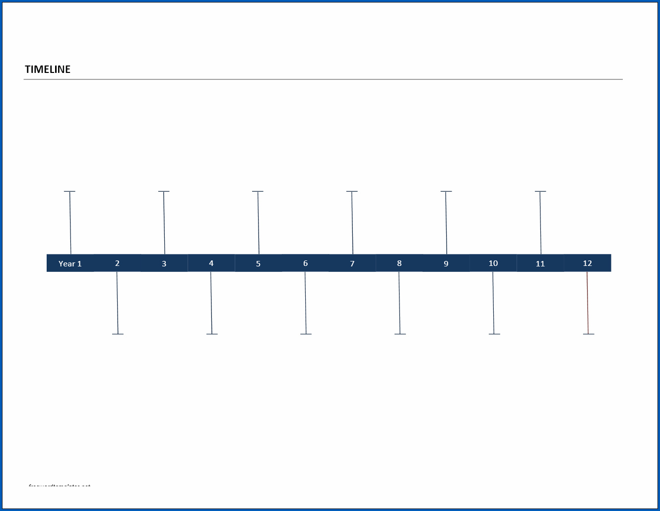 Year Timeline Template Example