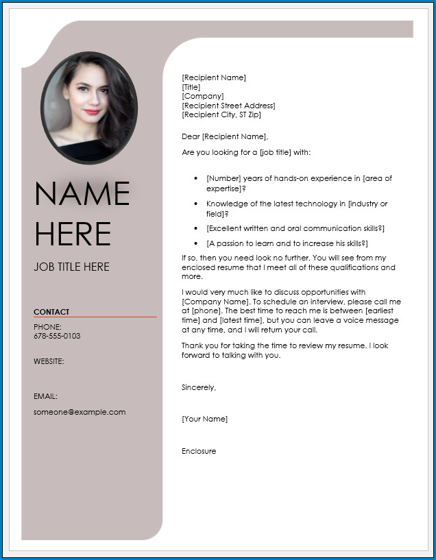 Free Printable Cover Letter Template Word Templateral